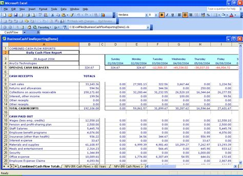 best photos of daily cash flow spreadsheet daily cash