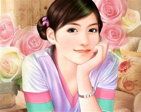 new chinese girls painting anime magazines chinese girl paintings 10