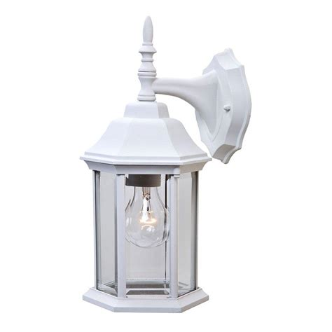 Craftsman Outdoor Light Fixtures by Acclaim Lighting Craftsman 2 Collection 1 Light Textured White Outdoor Wall Mount Fixture 5181tw