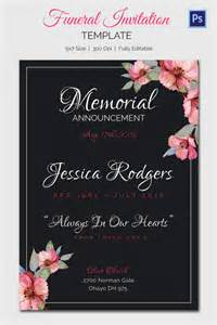 15 funeral invitation templates free sample example