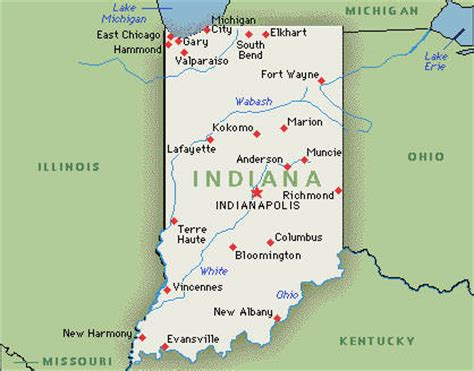 Indiana State Map by Indiana Family Attractions Hotel Fun 4 Kids