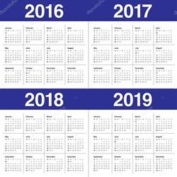 Colombia Calendrier 2018 Calendario 2016 2017 2018 2019 Vector De Stock 87397970