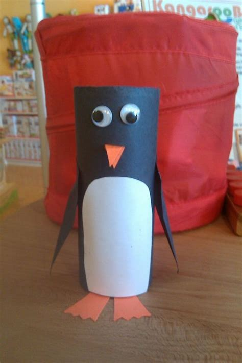 Penguin Toilet Paper Roll Craft - penguin from a toilet paper roll do with my