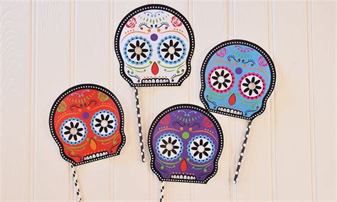 printable masks for day of the dead free day of the dead halloween printables party pieces