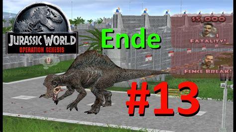 mod game jurassic world jurassic park operation genesis jw mod 13 t rex vs