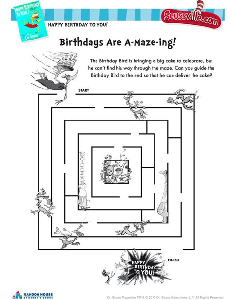 printable geography maze free dr seuss printables from seussville http www