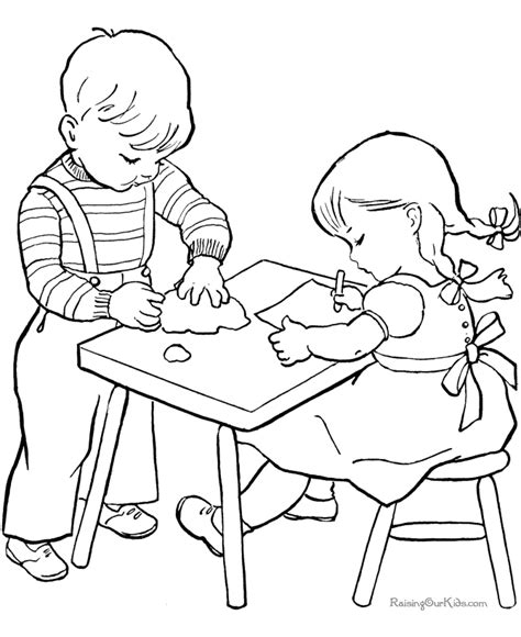 printable coloring pages school the gallery for gt kids helping coloring page