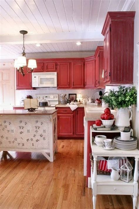 rustic red kitchen cabinets versatile and bold red kitchen designs