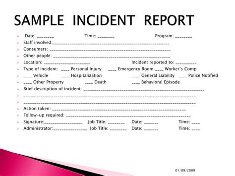 Incident Report Writing Powerpoint by Sle Incident Report Content Of The Incident Report Exle Of Incident Report Letter In