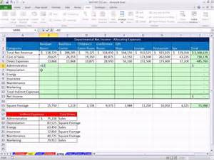 excel magic trick 745 allocating indirect expenses to