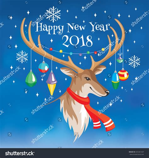 happy new year 2018 greeting card stock vector 2018 happy new year greeting card stock vector 655361437