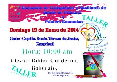 Calendario Xmatkuil 2014 Santa Teresa De Jesus Taller Para Catequistas Y