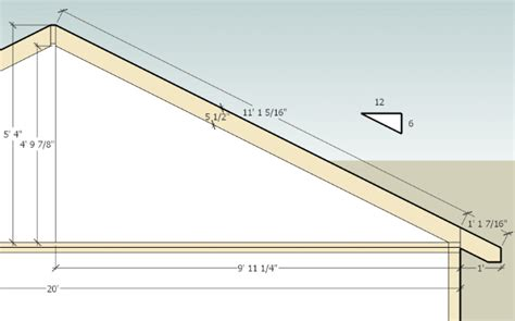 how to calculate shed roof rafters best image nikotub