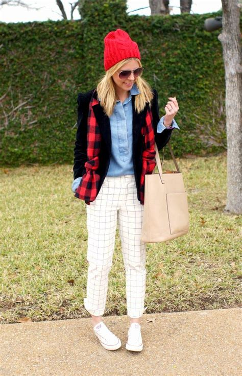 grid pattern outfit grid buffalo plaid pattern mixing outfit idea my