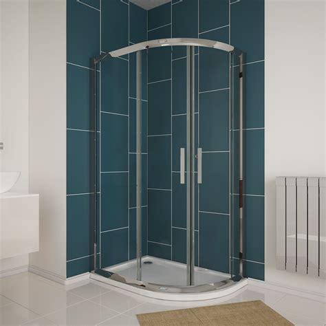 New Shower Enclosure New Offset Quadrant 6mm Safety Glass Shower Enclosure