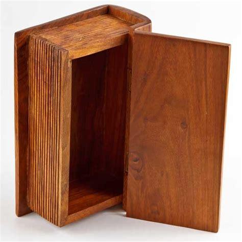 wooden book trinket box