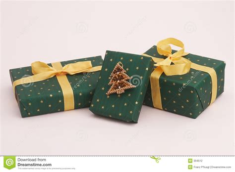 green christmas gifts stock photography image 394512