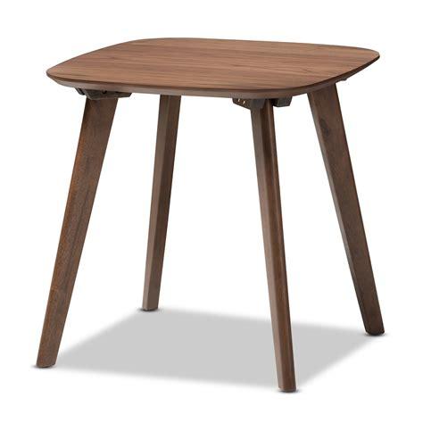 mid century modern accent table baxton studio dahlia mid century modern walnut wood end table