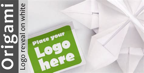 Paper Folding Sound Effect - after effects project videohive origami logo reveal on