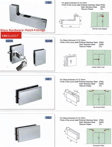 Patch Fittings Glass Hardware Door Hardware Smart Glass Door Patch Fittings