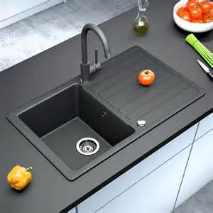 cheap black kitchen sinks bergstroem granite kitchen built in sink reversible