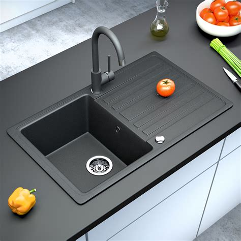 Cheap Black Sinks Kitchen 28 Images Cheap Black Sinks | bergstroem granite kitchen built in sink reversible