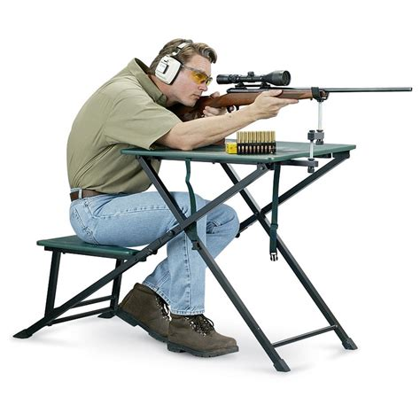 shooting benches and rests san angelo deluxe sure shot shooting bench 120960