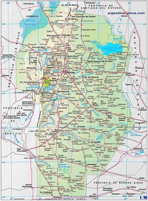 nomenclador cartografico cordoba mapa de la ciudad de mapa de rutas y localidades de la provincia de cordoba