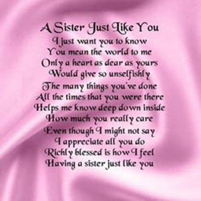 happy birthday quotes  sister   passed  sister birthday quotes sister poems