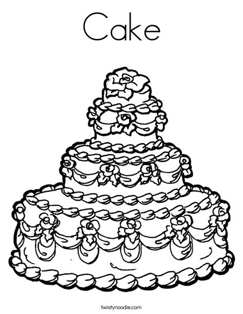 cake coloring pages cake coloring page twisty noodle