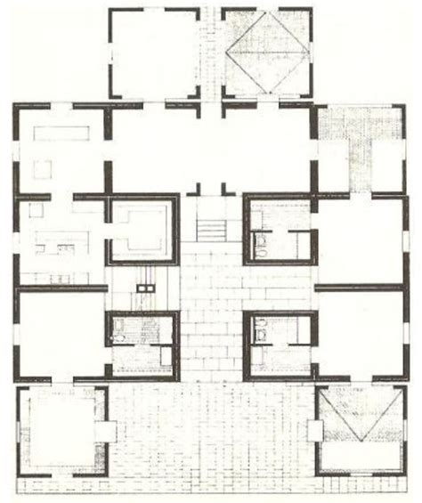 Louis Kahn Floor Plans | louis kahn fleisher house the space is in the plan