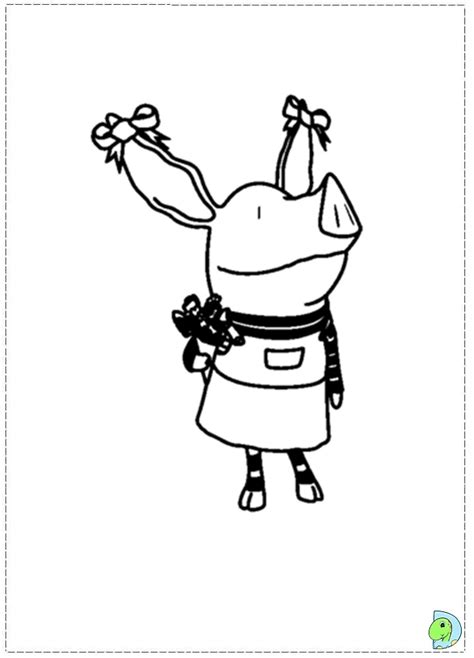 olivia pig coloring page olivia the pig pages coloring pages