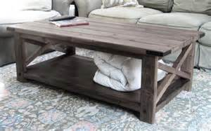 How To Build A Rustic Coffee Table White Rustic X Coffee Table Diy Projects