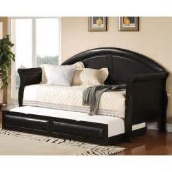 Black Daybed With Trundle Coaster Classic Daybed With Trundle In Black 300114 300110 1138a Kit
