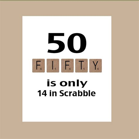 scrabble ey 50th birthday card milestone birthday birthday card