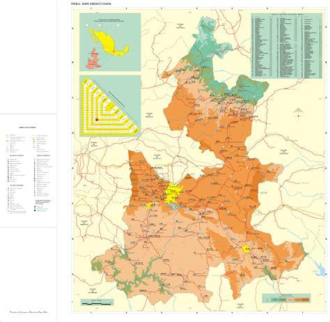 mapa de puebla mexico carreteras de puebla mapa