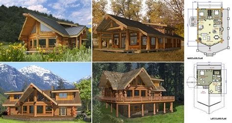 log home and log cabin floor plans between 1500 3000