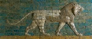 brick relief panel lion reign of nebuchadnezzar ii