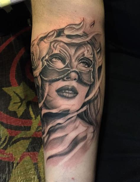 tattoo girl with mask collection of 25 girl mask tattoo