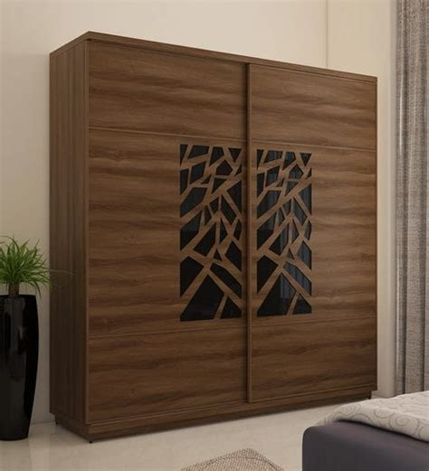 Wardrobe Door Finishes - buy kosmo autumn wardrobe with 2 sliding doors in walnut