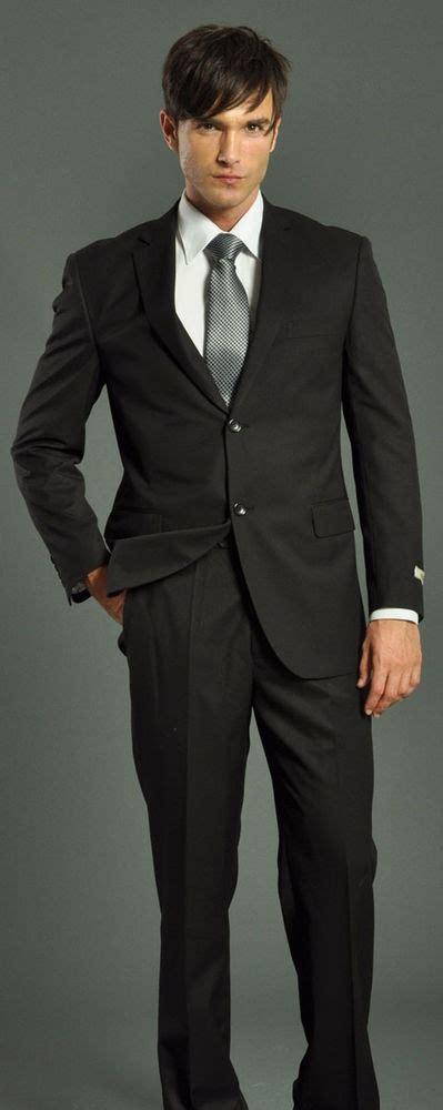 Suit Mba Graduates by Classic Black Solid Mens Suit 4 Funeral Graduation Prom