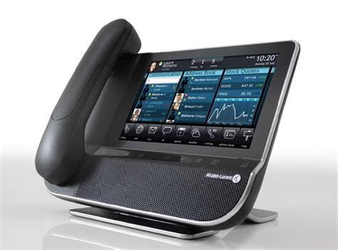 Desk Phone by Alcatel Lucent Unveils Smart Desk Phone