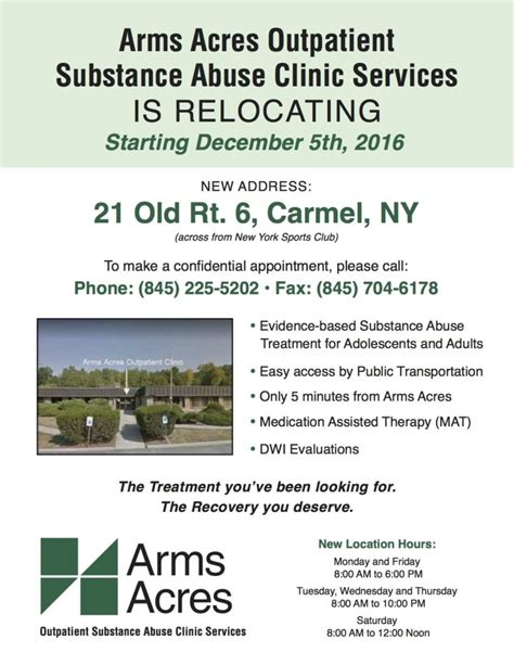 Arms Acres Detox by Arms Acres Outpatient Has Relocated Arms Acres