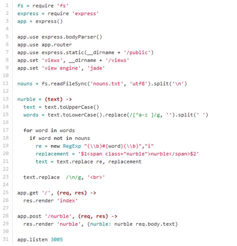 node js tutorial exles demos interesting code of the same application in php python