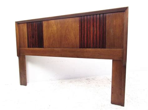 mid century modern headboard queen mid century modern rosewood and walnut queen size bed