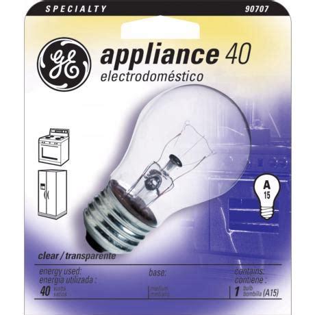 15 watt appliance light bulb ge 40 watt a15 clear appliance light bulb 90707
