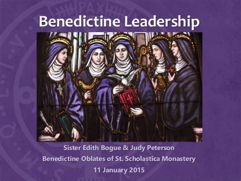 Mba Leadership And Change St Scholastica by Leadership In The Benedictine Tradition