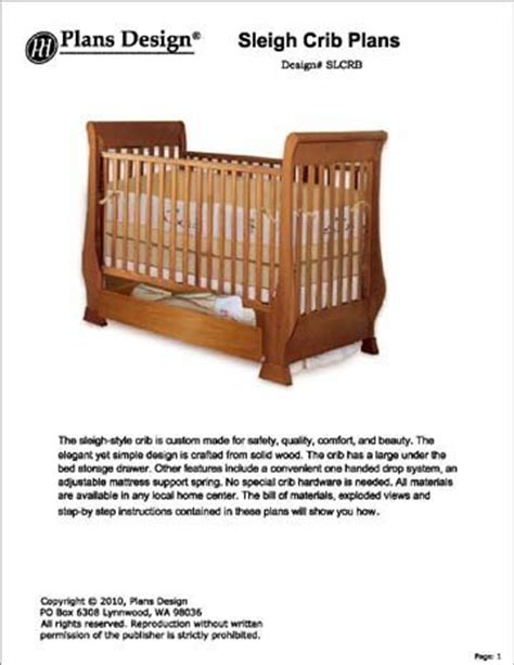 Baby Crib Plans Woodworking by Baby Crib Plans Clasic Sleigh Baby Crib With Drawer