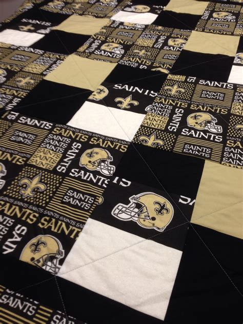 New Orleans Saints Quilt new orleans saints quilt by rosehillquilting on etsy