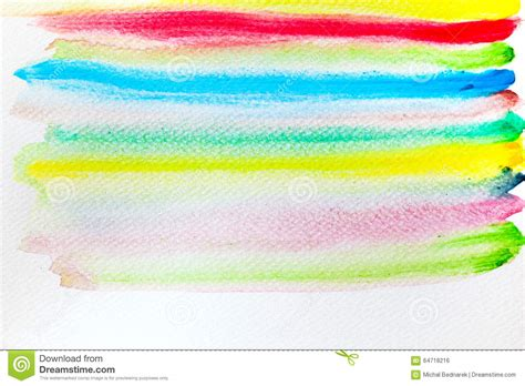 Super Colorful by Colorful Stripes Watercolor Paint On Canvas Super High